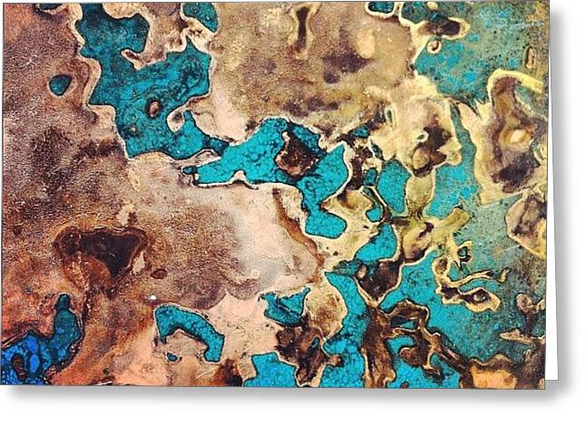 Verdigris Texture Greeting Card by Nic Squirrell
