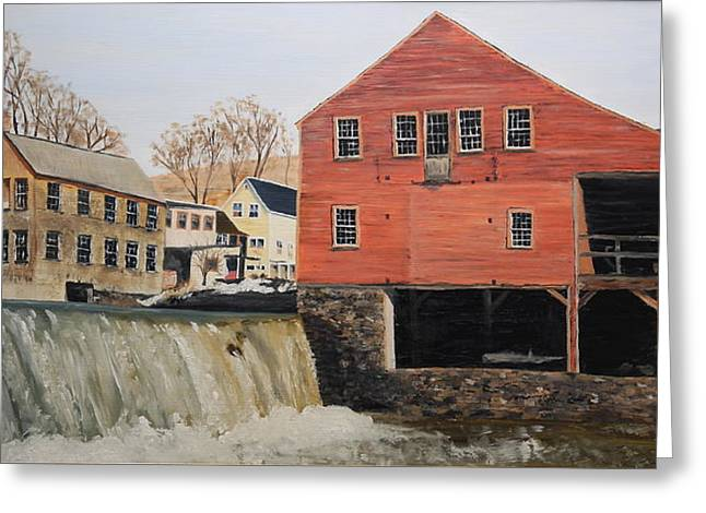 Vermont Mill Stream Greeting Card