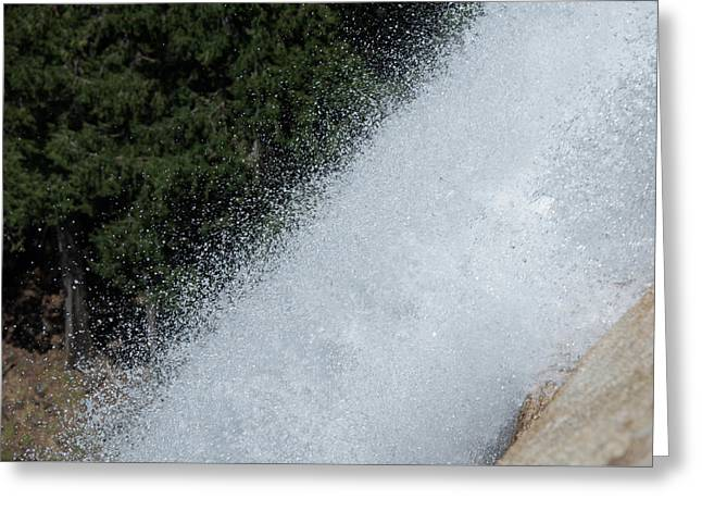 Vernal Falls On The Mist Trail At Yosemite Np Greeting Card