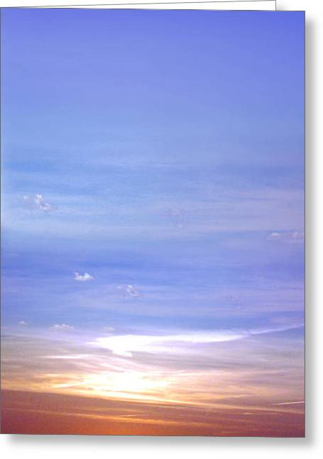 Greeting Card featuring the photograph Vertical Sunset by Rod Seel