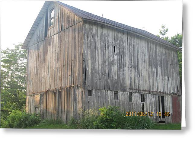 Greeting Card featuring the photograph Very Old Barn by Tina M Wenger