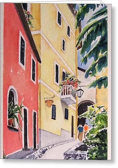 Via G. Matteoti Greeting Card by Regina Ammerman