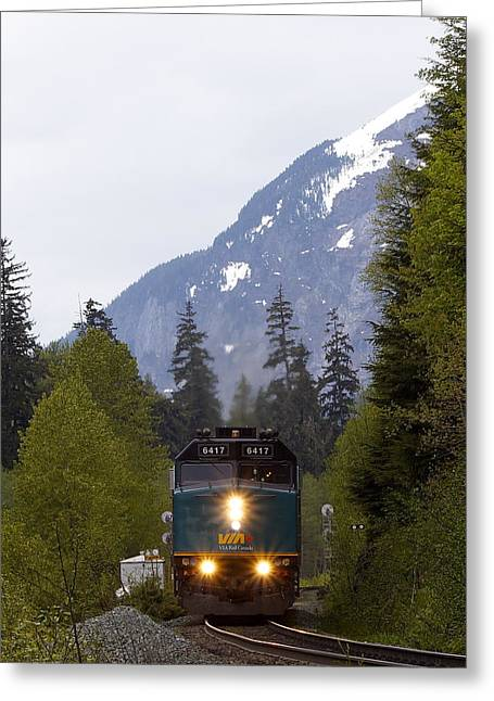 Greeting Card featuring the photograph Via Rail Canada by Sylvia Hart