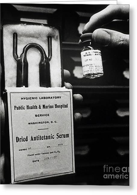 Vials Of Tetanus Antitoxin Greeting Card