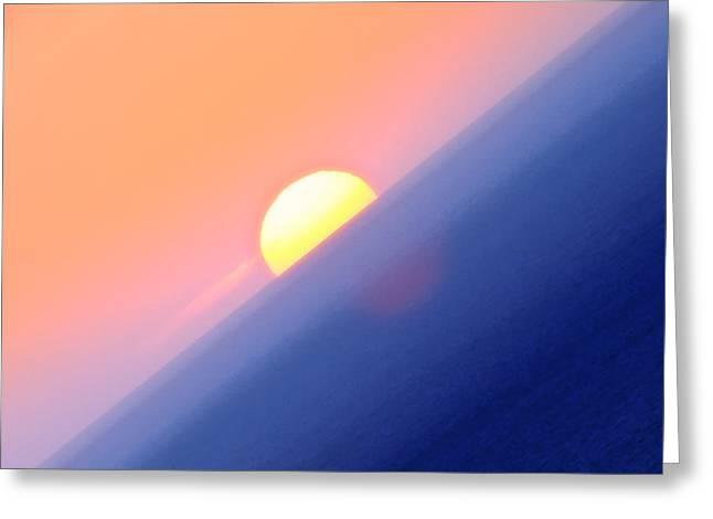 Vibrant Sun Greeting Card