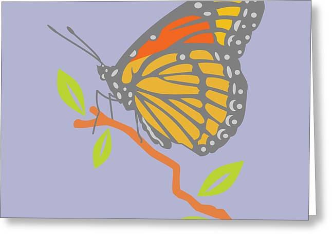 Viceroy Butterfly Greeting Card by Mary Ogle