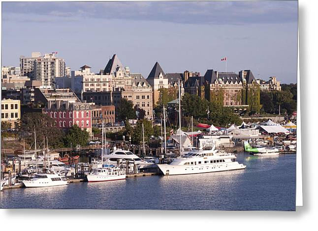 Victoria B.c. Cityscape Greeting Card by MaryJane Armstrong