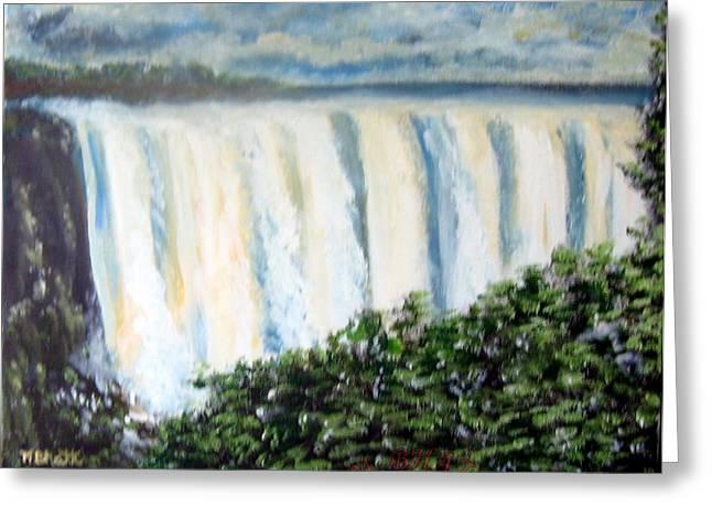 Victoria Falls Greeting Card by M Bhatt