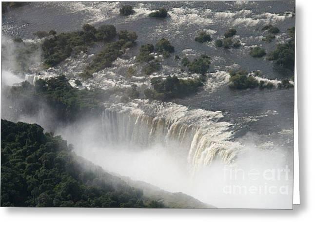 Victoria Falls Zambia Greeting Card by Carol Wright