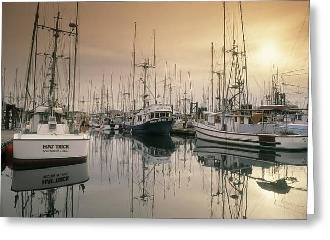 Victoria Harbour, Victoria, Bc, Canada Greeting Card by Darwin Wiggett