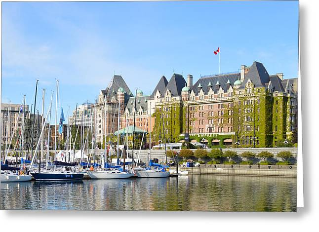 Victoria Vancouver Island Hotel Greeting Card by Ann Marie Chaffin