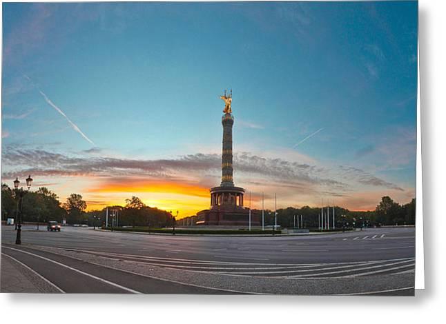 Victory Column Berlin Greeting Card by Greta Schmidt