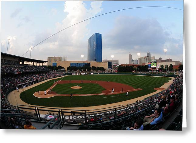 Victory Field Home Of The Indianapolis Indians Greeting Card by Rob Banayote