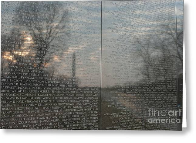 Vietnam Veterans Memorial  Greeting Card by Clarence Holmes
