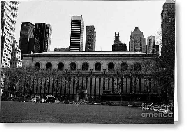 View From Bryant Park Nyc Greeting Card by Trude Janssen