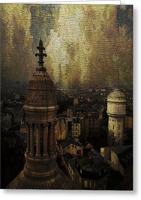 View From Sacre Couer Greeting Card by Veronica Ventress
