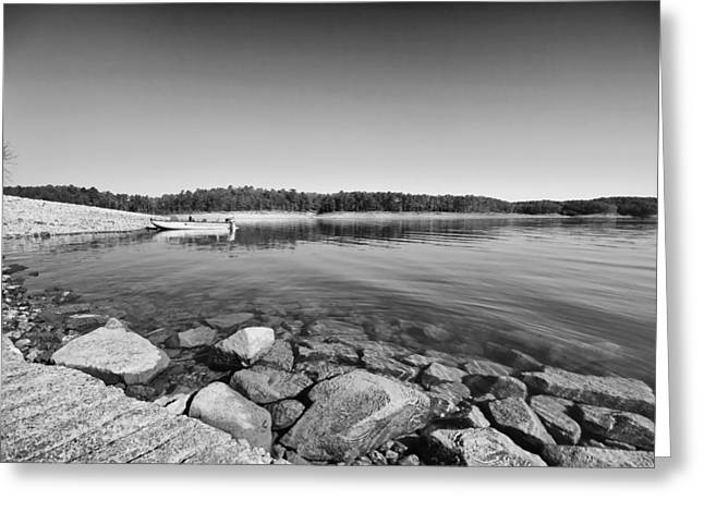 View From The Boat Ramp Greeting Card by Douglas Barnard