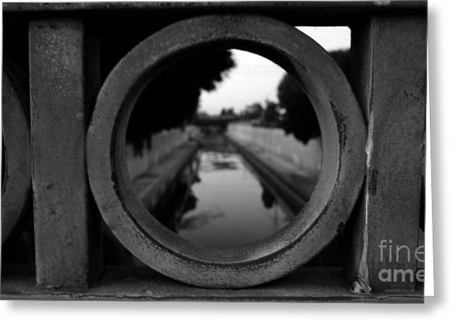 Greeting Card featuring the photograph View From The Bridge by Nina Prommer