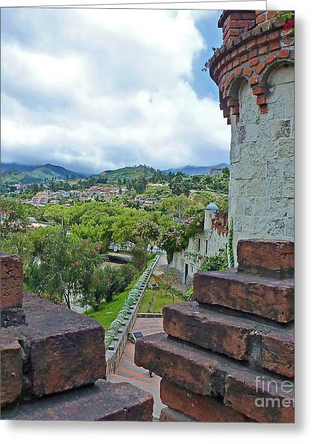 View From The City Walls - Loja - Ecuador Greeting Card