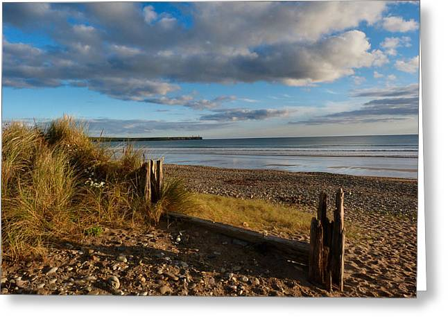 View From The Dunes At Tramore. Greeting Card