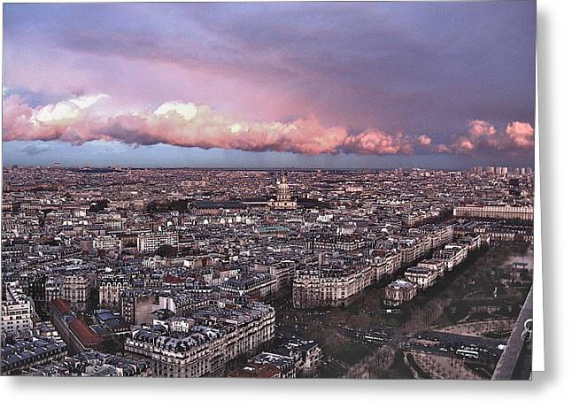 View From The Eiffel 2 Greeting Card by David Ritsema