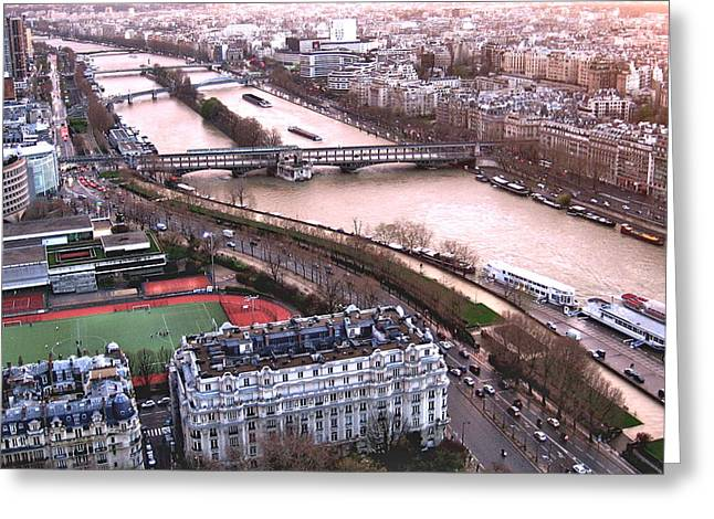 View From The Eiffel Greeting Card by David Ritsema