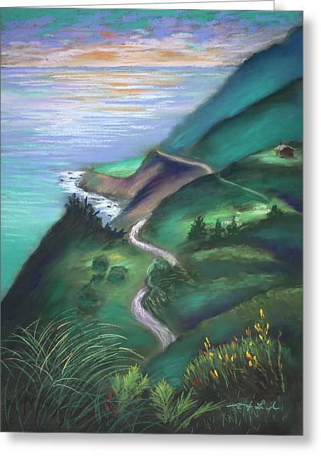 View From The Hermitage Greeting Card by Karin  Leonard