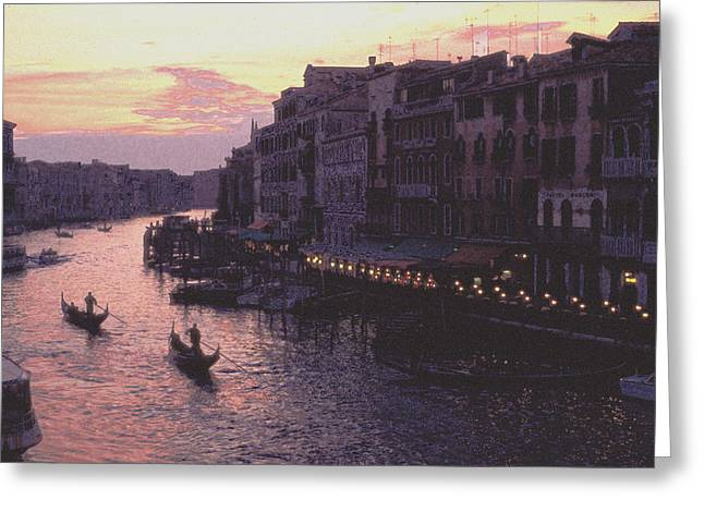 View From The Rialto Venice Greeting Card by Tom Wurl