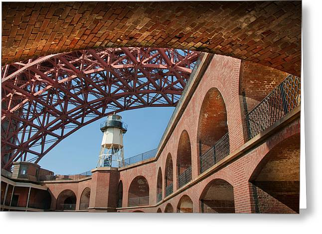 View From Under The Arch Greeting Card by Kent Sorensen
