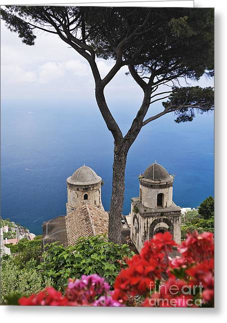 View From Villa Rufolo Gardens Greeting Card by Jeremy Woodhouse