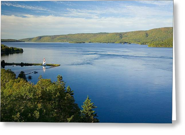 View Of Boulardarie Island From Seal Greeting Card by John Sylvester