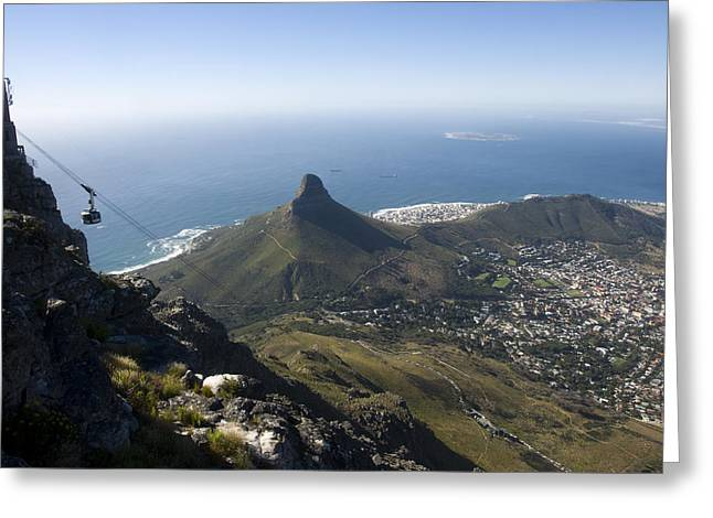 View Of Cape Town From Table Mountain Greeting Card by Stacy Gold