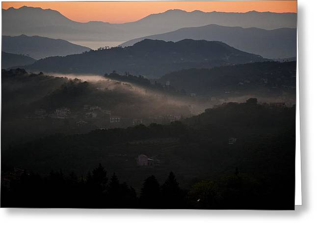 View Of Cinque Terra National Park At Greeting Card by Axiom Photographic