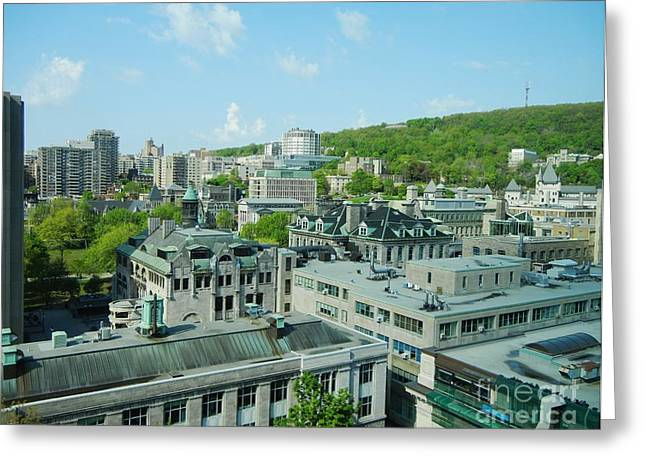 View Of Montreal  From Royal Victoria College Greeting Card by Reb Frost