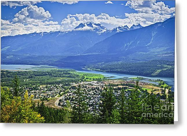 View Of Revelstoke In British Columbia Greeting Card