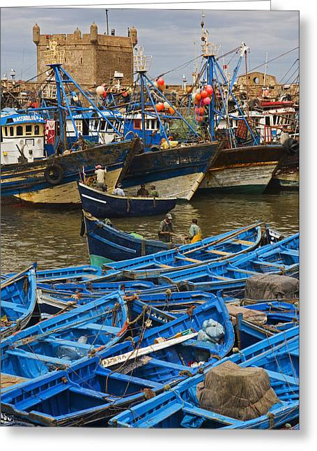 View Of Skala Du Port Greeting Card by Axiom Photographic