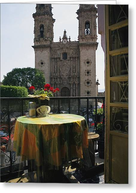View Of The Parroquia De Santa Prisca Greeting Card by Gina Martin