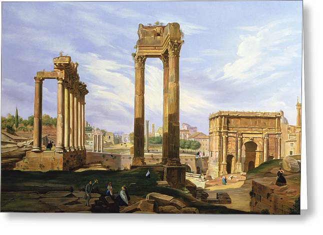 View Of The Roman Forum Greeting Card