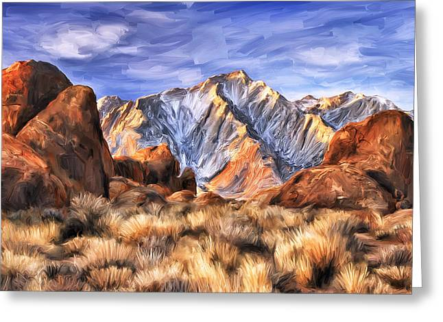 View Of The Sierras Greeting Card by Dominic Piperata