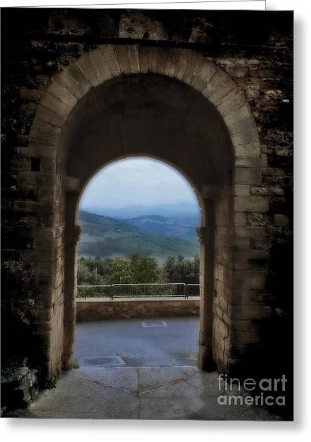 View Of Tuscany Greeting Card by Karen Lewis