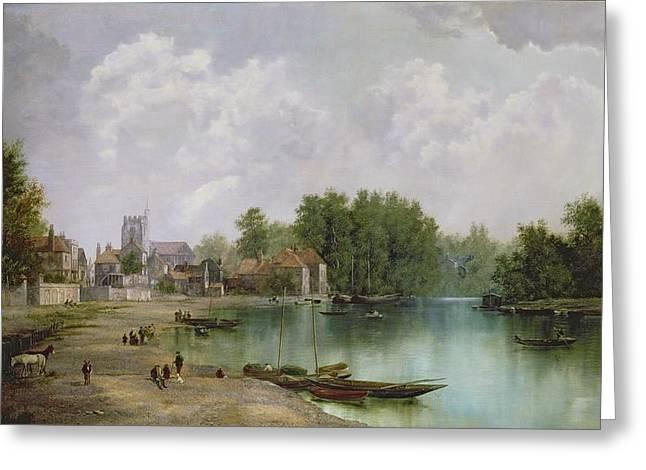 View Of Twickenham Greeting Card by W Howard