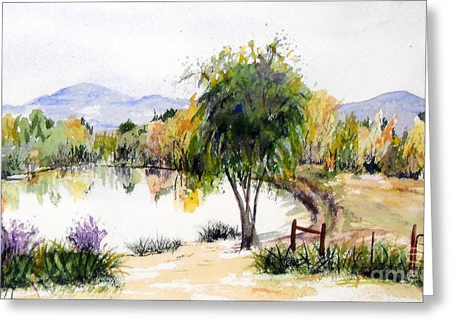 View Outside Reno Greeting Card