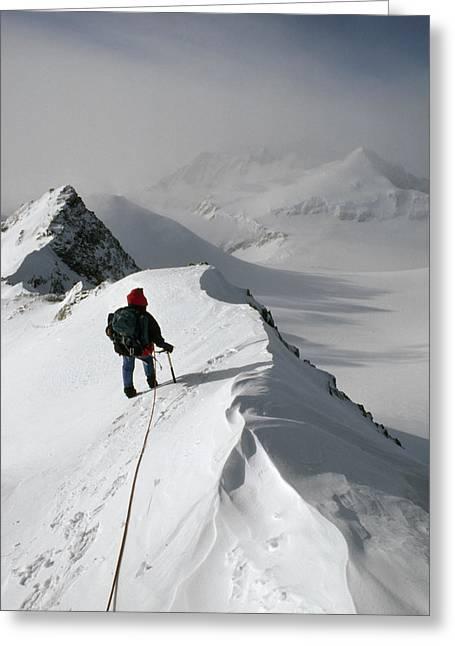 Viewing Mt.shinn From The Vinson Greeting Card by Gordon Wiltsie