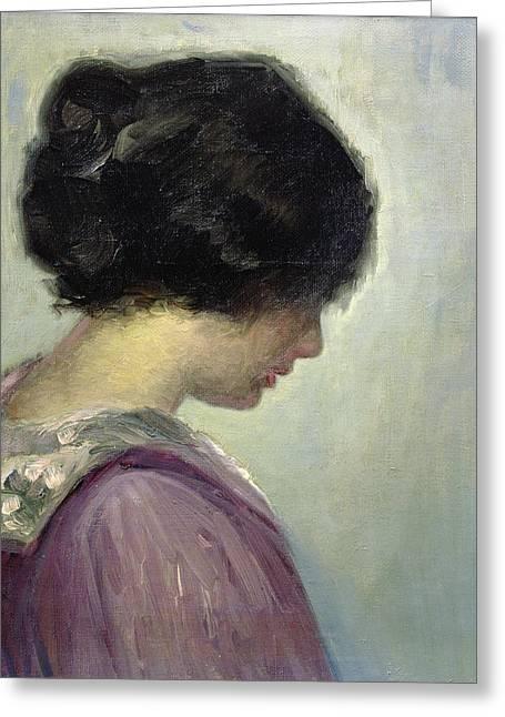 Viggo Johansen Greeting Card by Portrait of a Lady