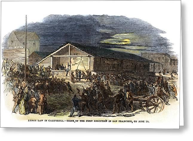 Vigilantes, 1851 Greeting Card by Granger
