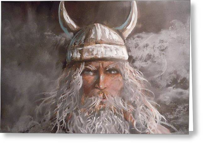 Viking God Greeting Card