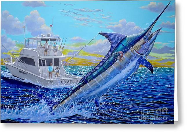 Viking Marlin Greeting Card