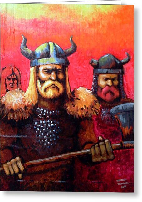 Vikings Greeting Card by Edzel marvez Rendal