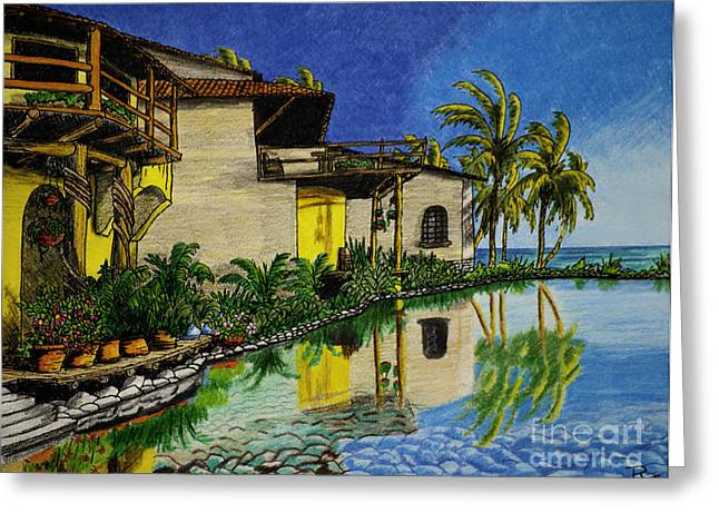 Villa Del Sol Greeting Card