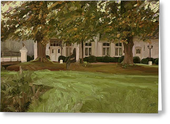 Greeting Card featuring the painting Villa Dongewyk 1 by Nop Briex